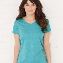 3591 Women's Harborside Mélange V-Neck T-Shirt Thumbnail
